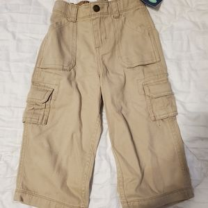Carter's tan cargo pants size 18months NWT
